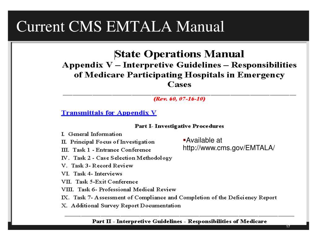 PPT - EMTALA Update 2013 Emergency Medical Treatment and