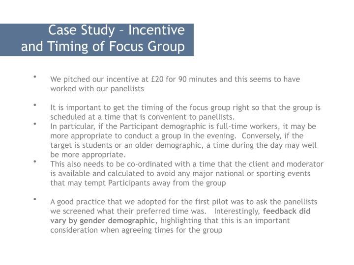 Case Study – Incentive