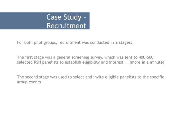 Case Study – Recruitment