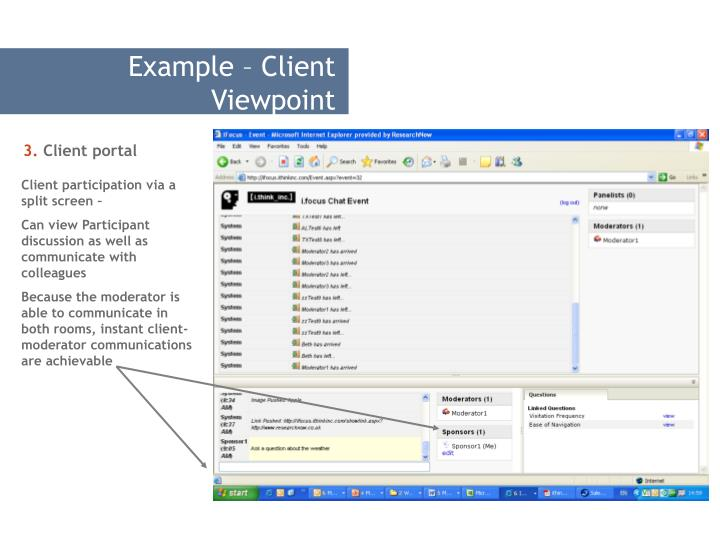 Example – Client Viewpoint