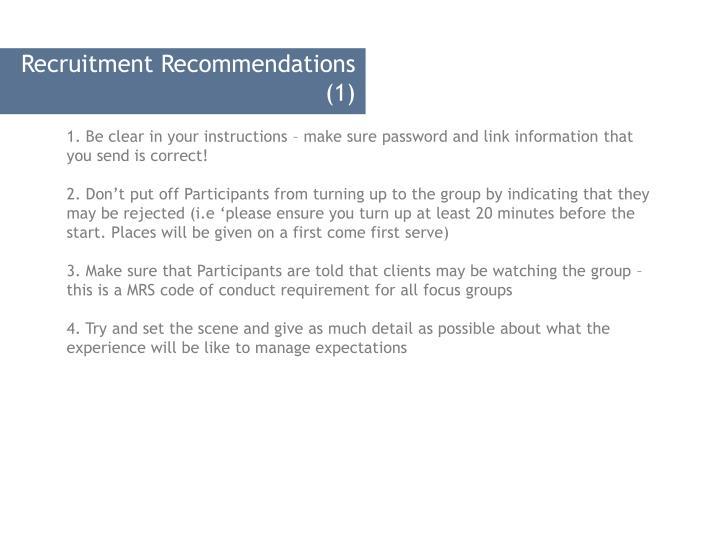 Recruitment Recommendations (1)