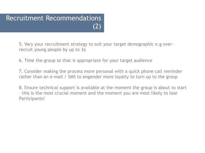 Recruitment Recommendations (2)