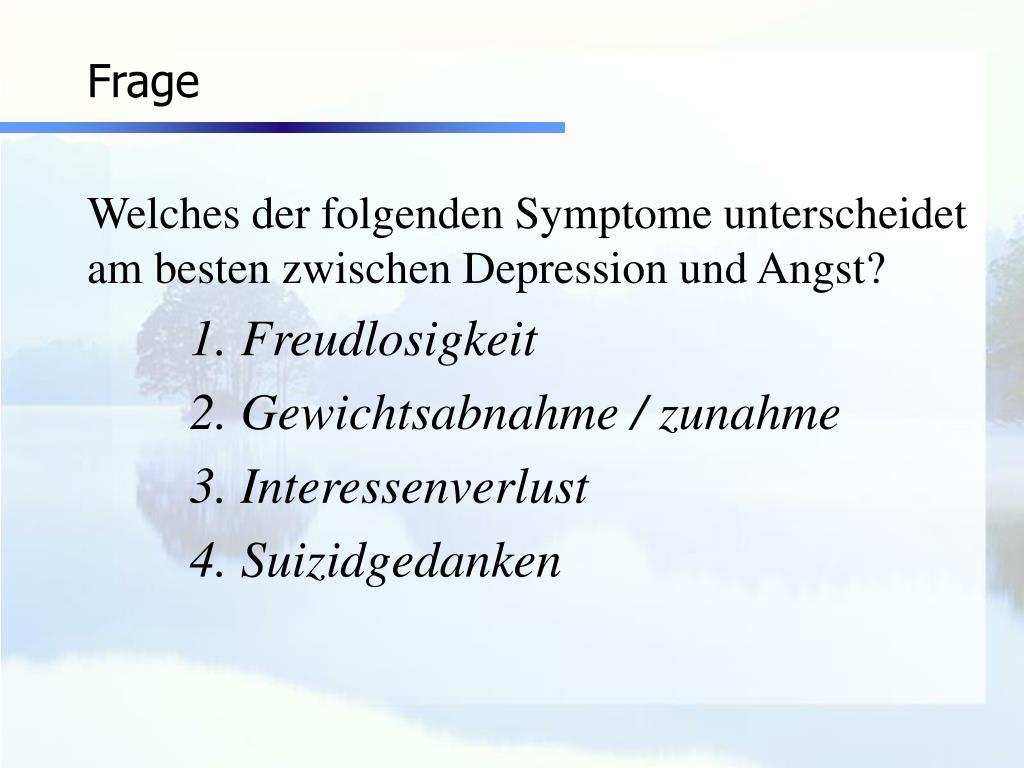 PPT - Komorbidität von Angst und Depression PowerPoint..
