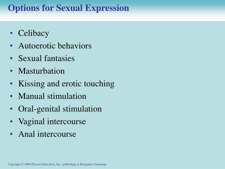 Options for Sexual Expression