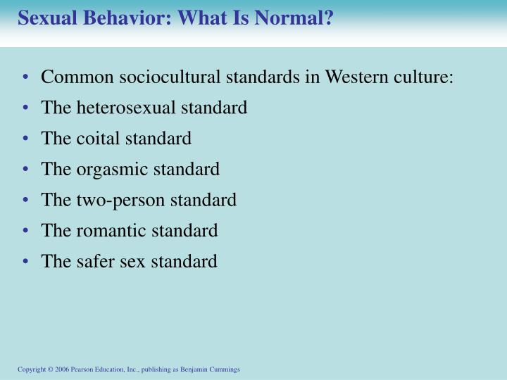 Sexual Behavior: What Is Normal?