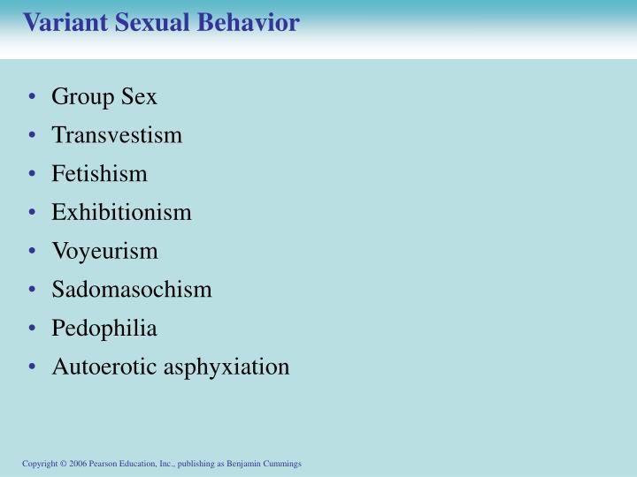 Variant Sexual Behavior