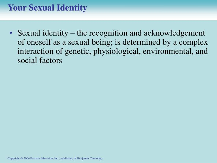 Your sexual identity