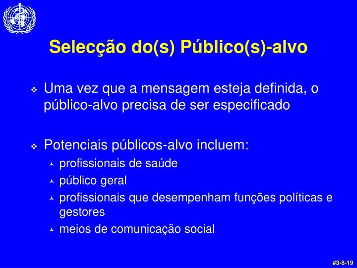 Selecção do(s) Público(s)-alvo