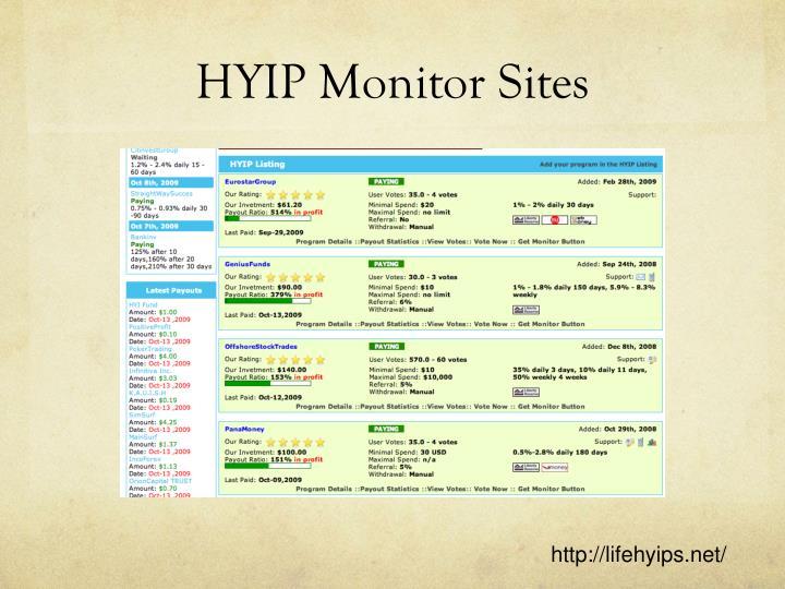 HYIP Monitor Sites