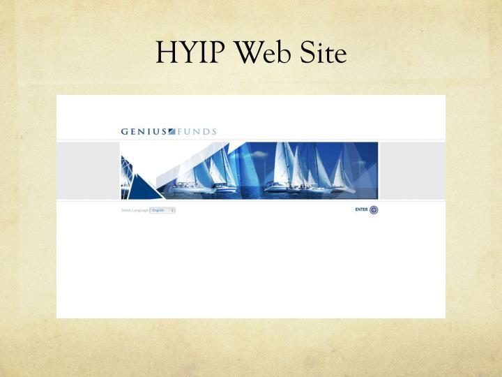 HYIP Web Site