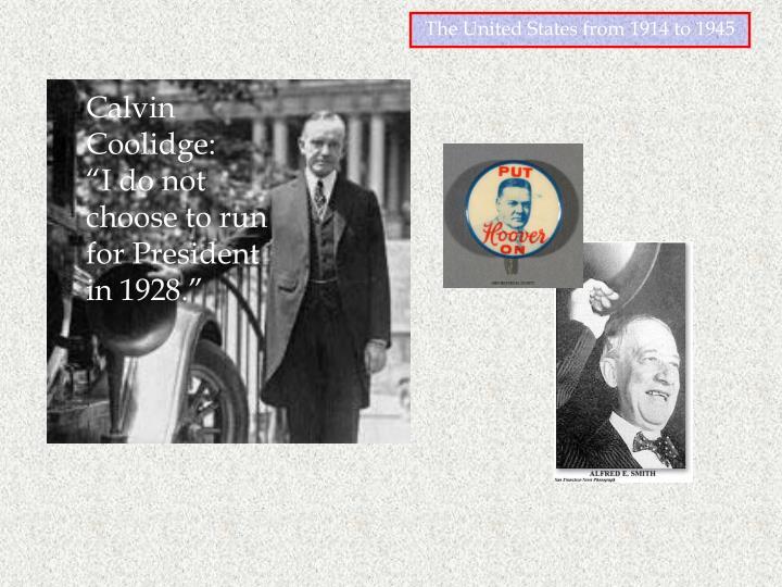Calvin Coolidge: