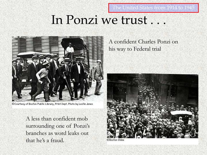 A confident Charles Ponzi on his way to Federal trial
