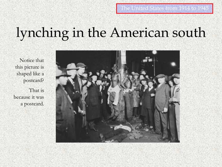 Lynching in the american south