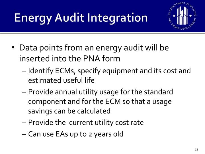 Energy Audit Integration