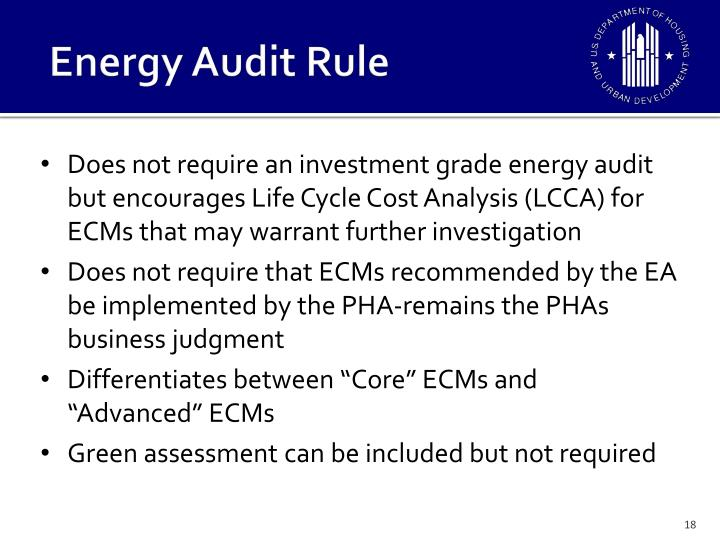 Energy Audit Rule