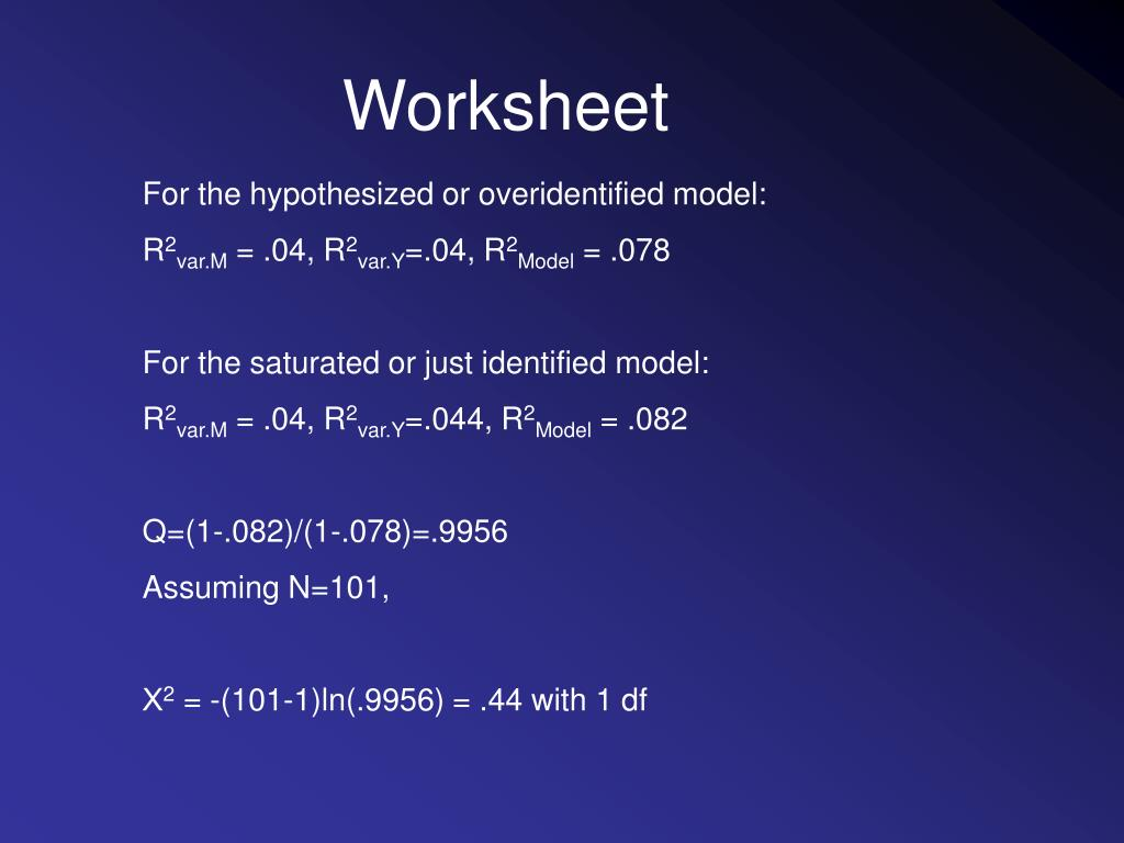 PPT - Goodness of fit in structural equation models