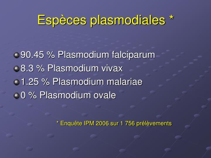 Espèces plasmodiales *