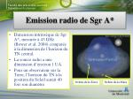 emission radio de sgr a2