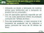 import ncia do petr leo para o setor agropecu rio