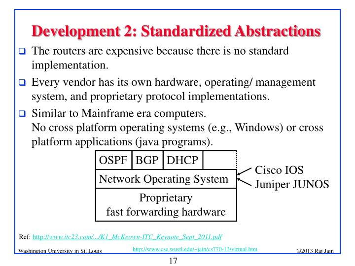 Development 2: Standardized Abstractions