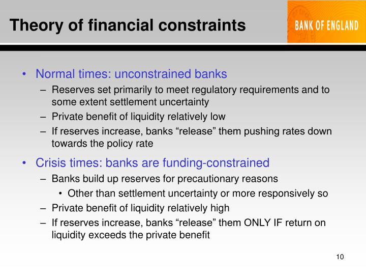 Theory of financial constraints