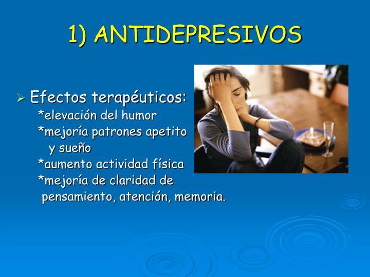 1) ANTIDEPRESIVOS