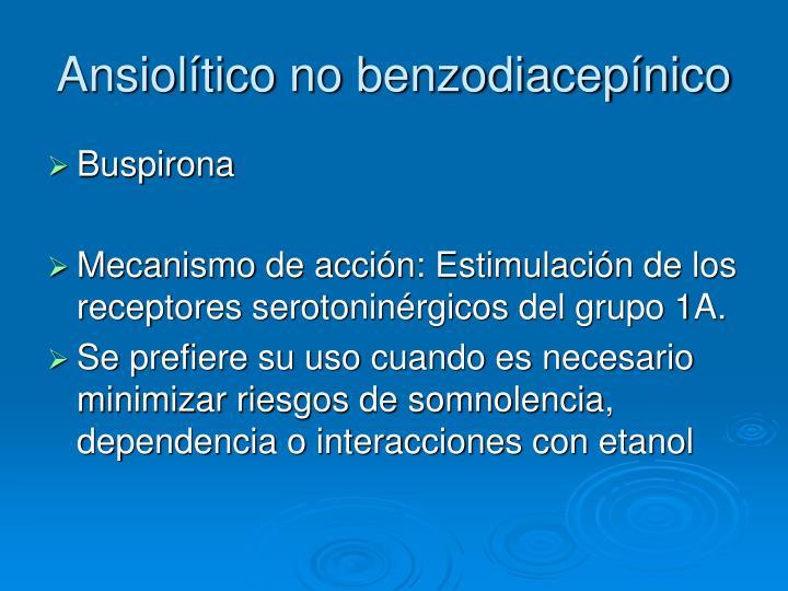 Ansiolítico no benzodiacepínico