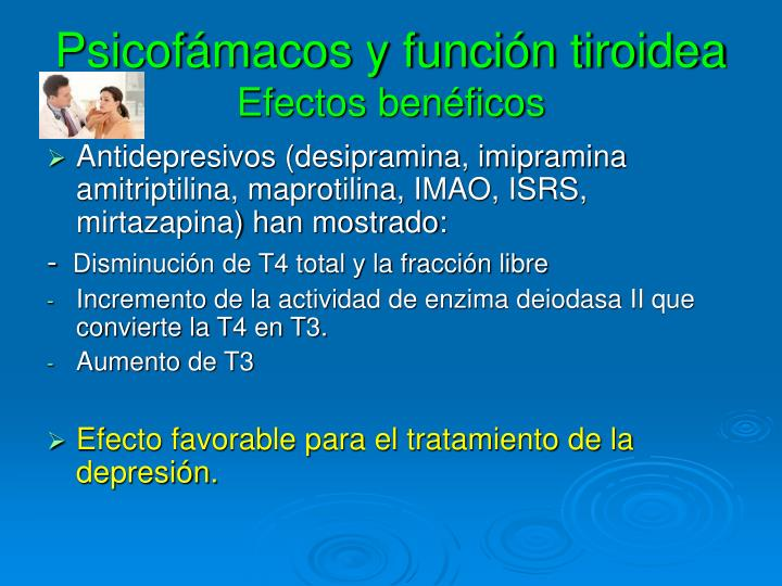 Psicofámacos y función tiroidea