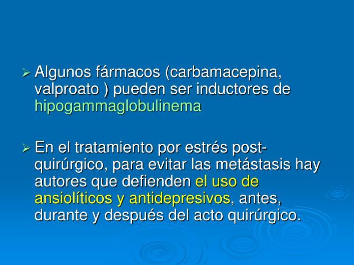 Algunos fármacos (carbamacepina, valproato ) pueden ser inductores de