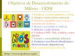 objetivos de desenvolvimento do mil nio odm1