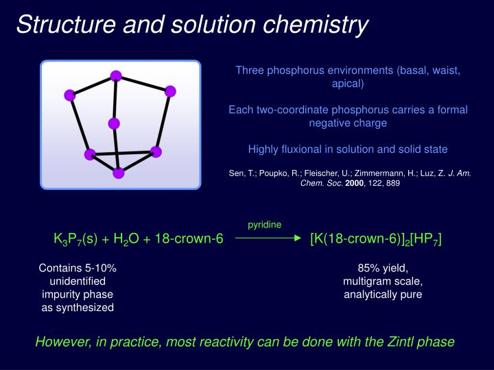 Structure and solution chemistry