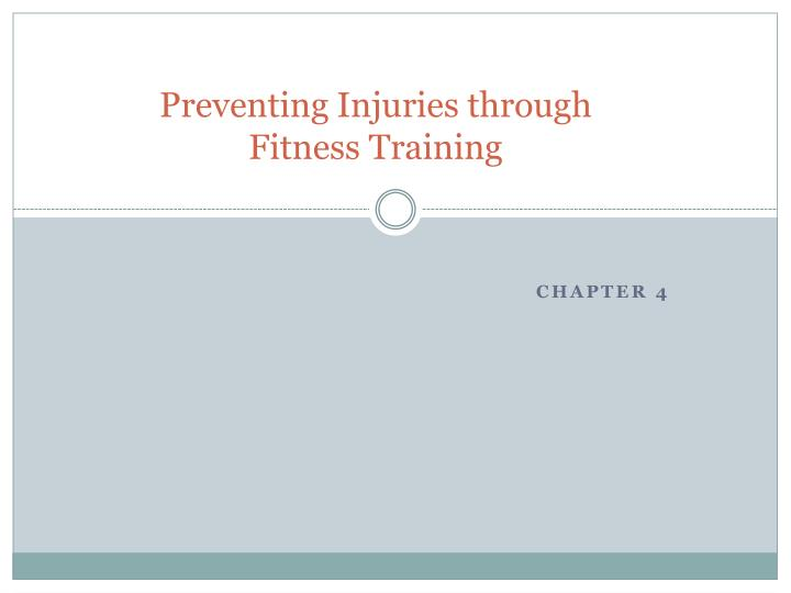 preventing injuries through fitness training n.
