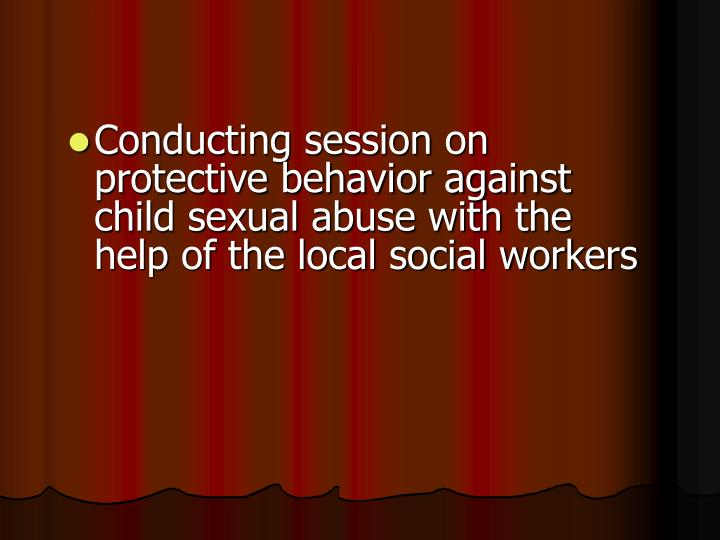 Conducting session on protective behavior against child sexual abuse with the help of the local social workers