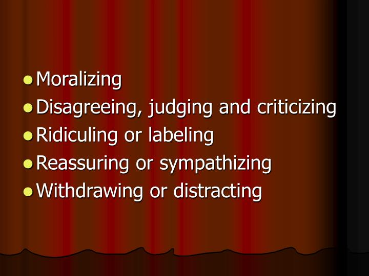 Moralizing