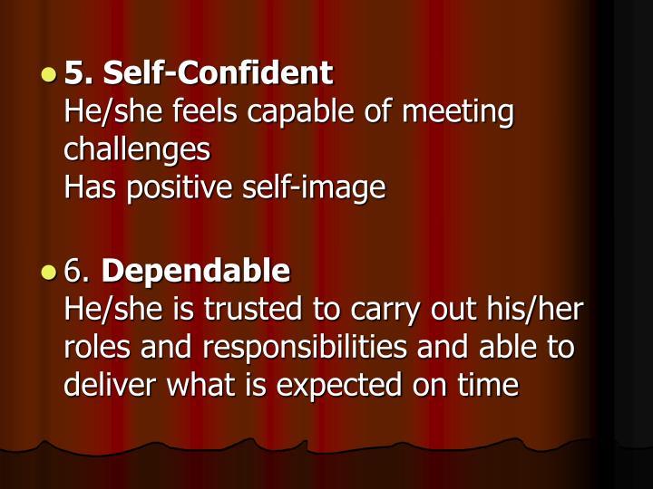 5. Self-Confident