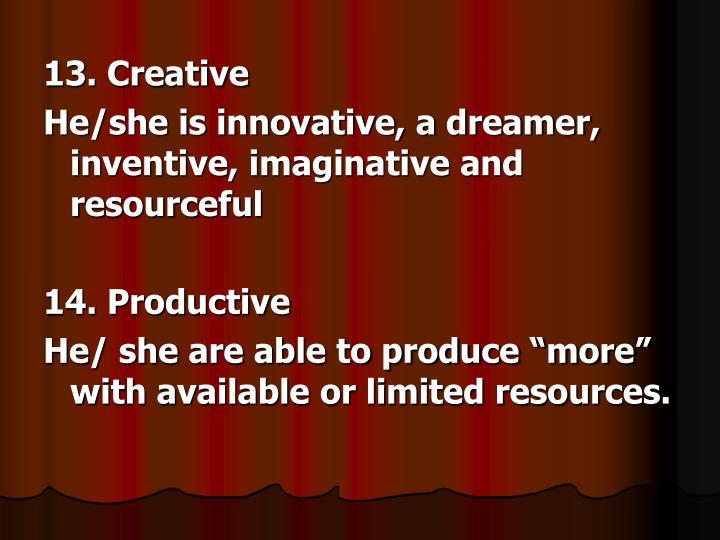 13. Creative