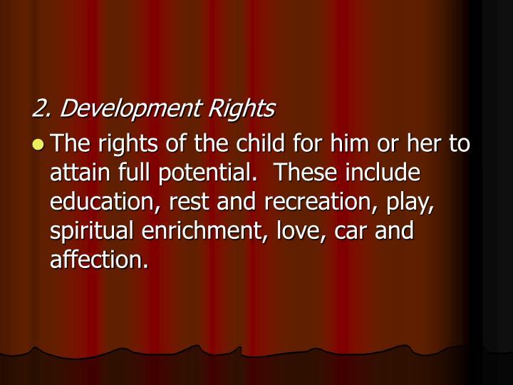 2. Development Rights