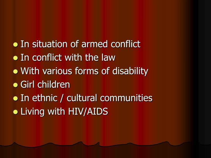 In situation of armed conflict