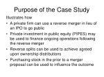 purpose of the case study