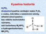 kyselina fosforit