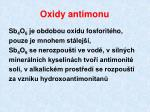 oxidy antimonu