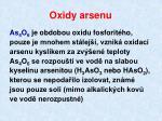 oxidy arsenu