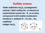 sulfidy arsenu