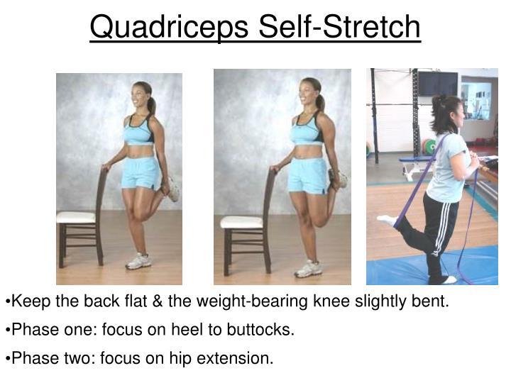 Quadriceps Self-Stretch