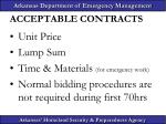 acceptable contracts