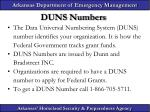 duns numbers