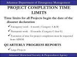 project completion time limits