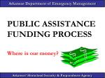 public assistance funding process where is our money