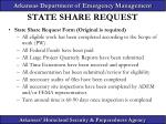state share request