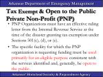tax exempt open to the public private non profit pnp